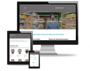 Webdesign-utehieke Shop Behelfsmaske